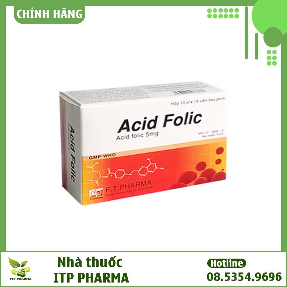 Hình ảnh hộp thuốc Acid Folic