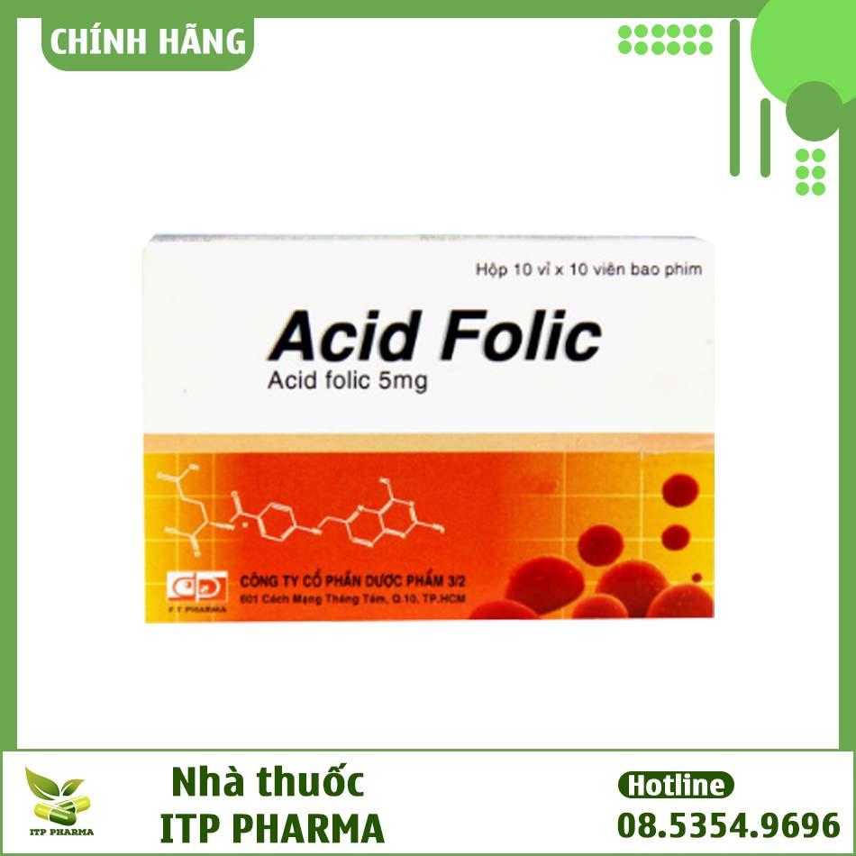 Thuốc Acid Folic bào chế dưới dạng viên nén