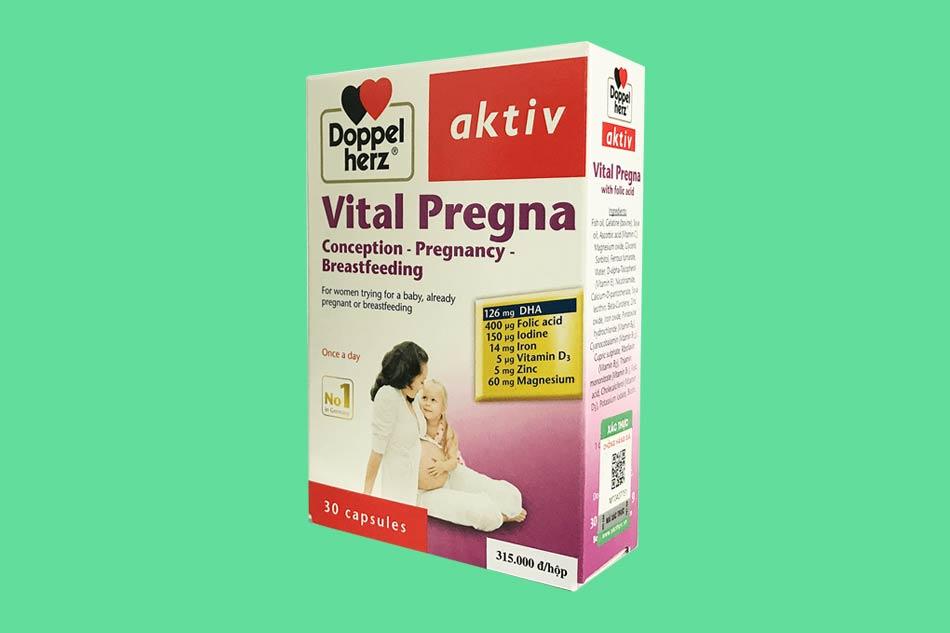 Vitamin tổng hợp cho mẹ bầu 3 tháng đầu Vital Pregna