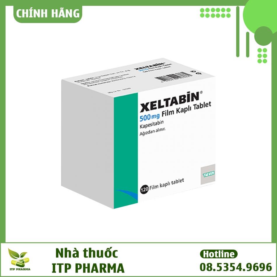 Hình ảnh hộp thuốc ung thư Xeltabine