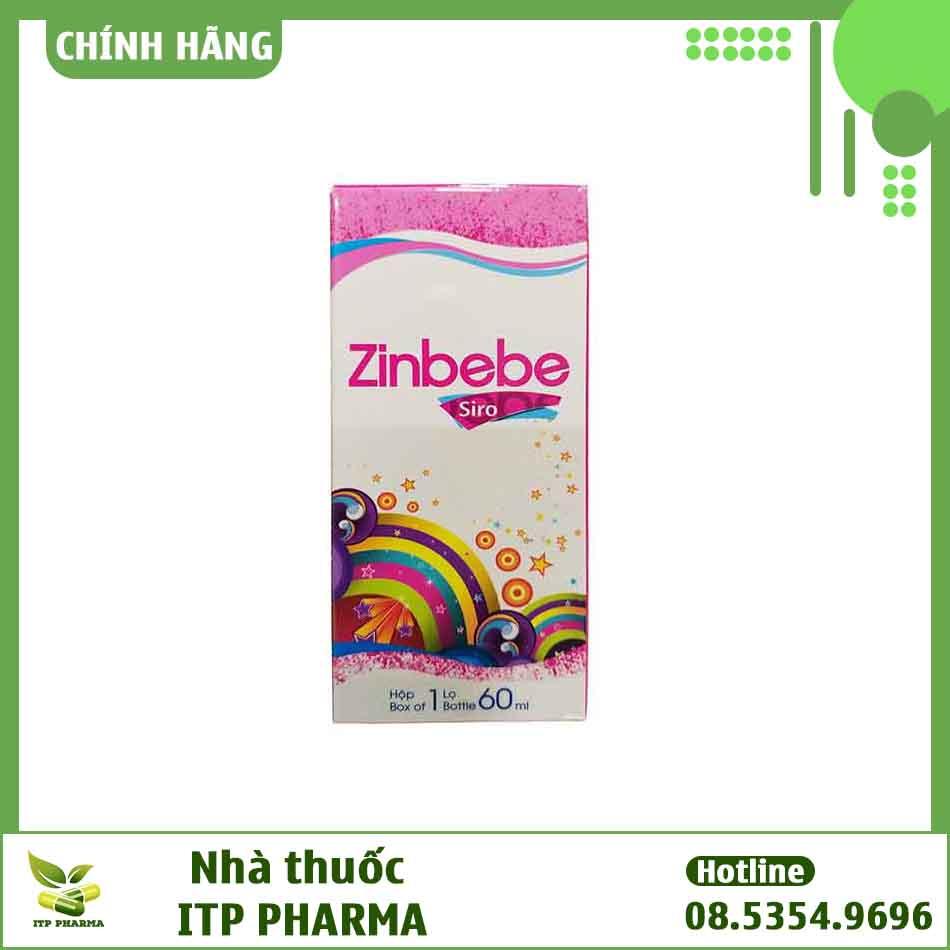 Hình ảnh mặt trước hộp thuốc Zinbebe
