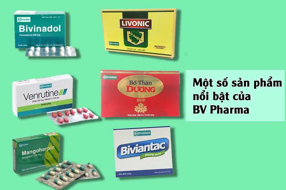 Một số sản phẩm nổi bật của BV Pharma