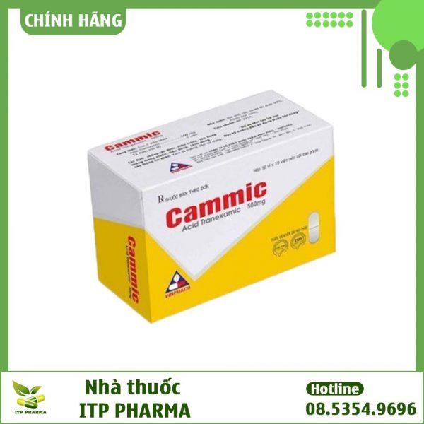Hình ảnh hộp thuốc Cammic 500mg