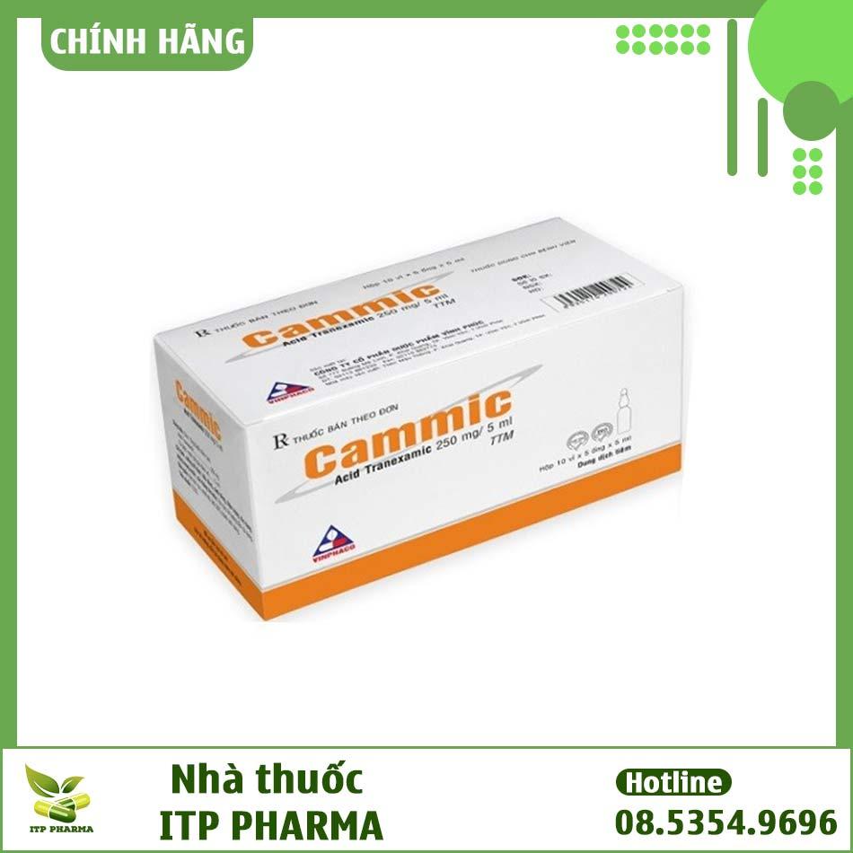 Hình ảnh hộp thuốc tiêm pha sẵn Cammic 250/ 5ml