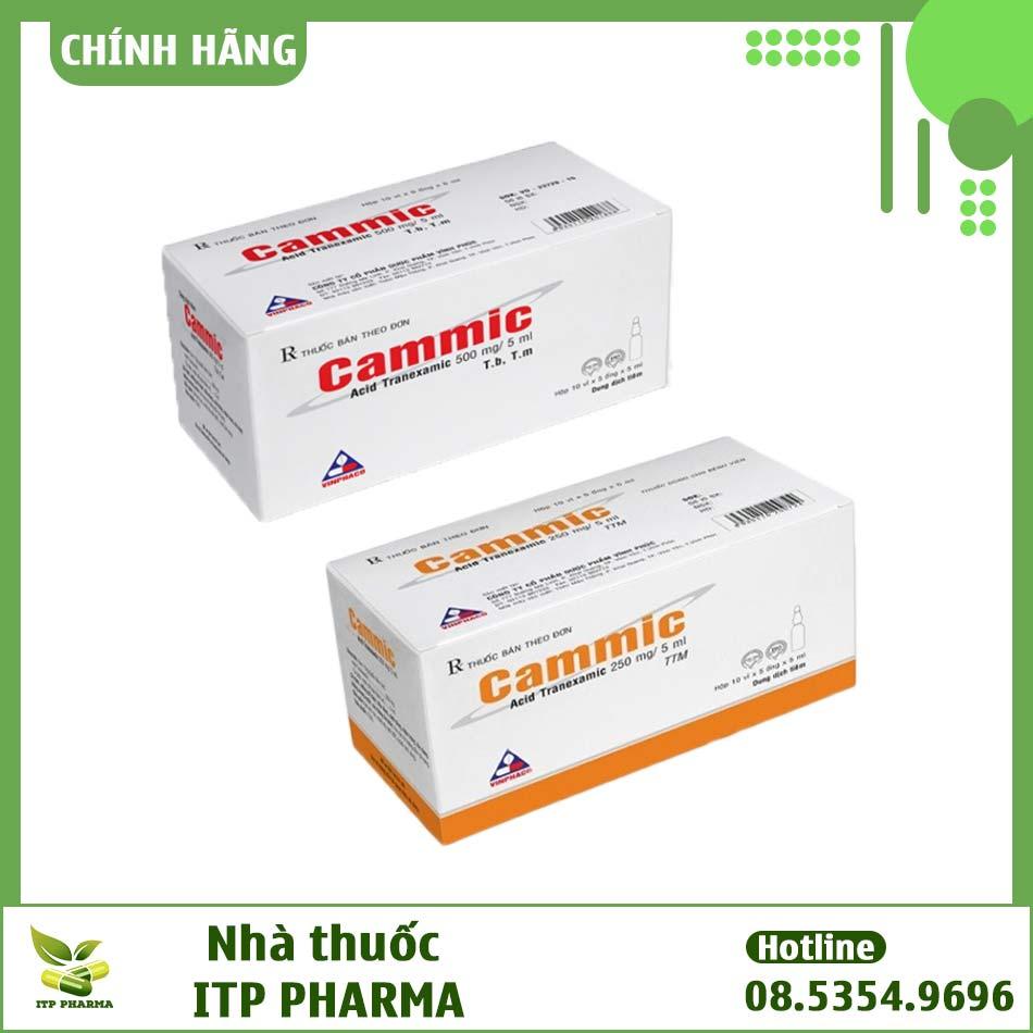 Thuốc tiêm Cammic pha sẵn hàm lượng 250 và 500mg/5ml