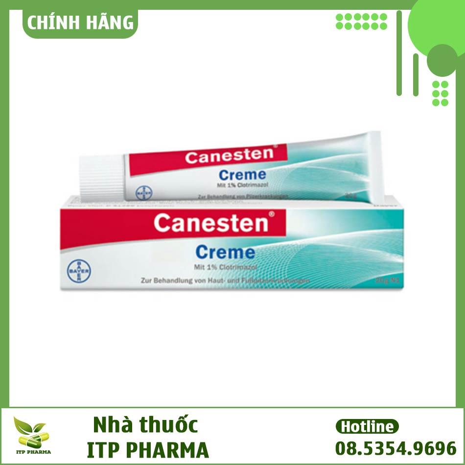 Hình ảnh hộp thuốc Canesten dạng kem bôi