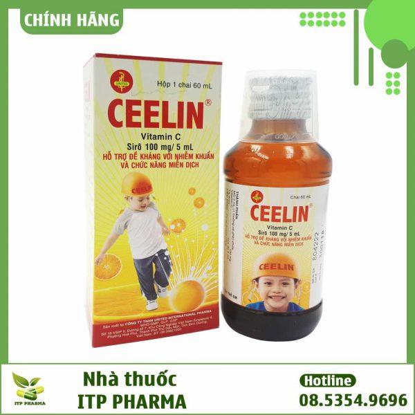 Hộp thuốc và lọ thuốc Ceelin
