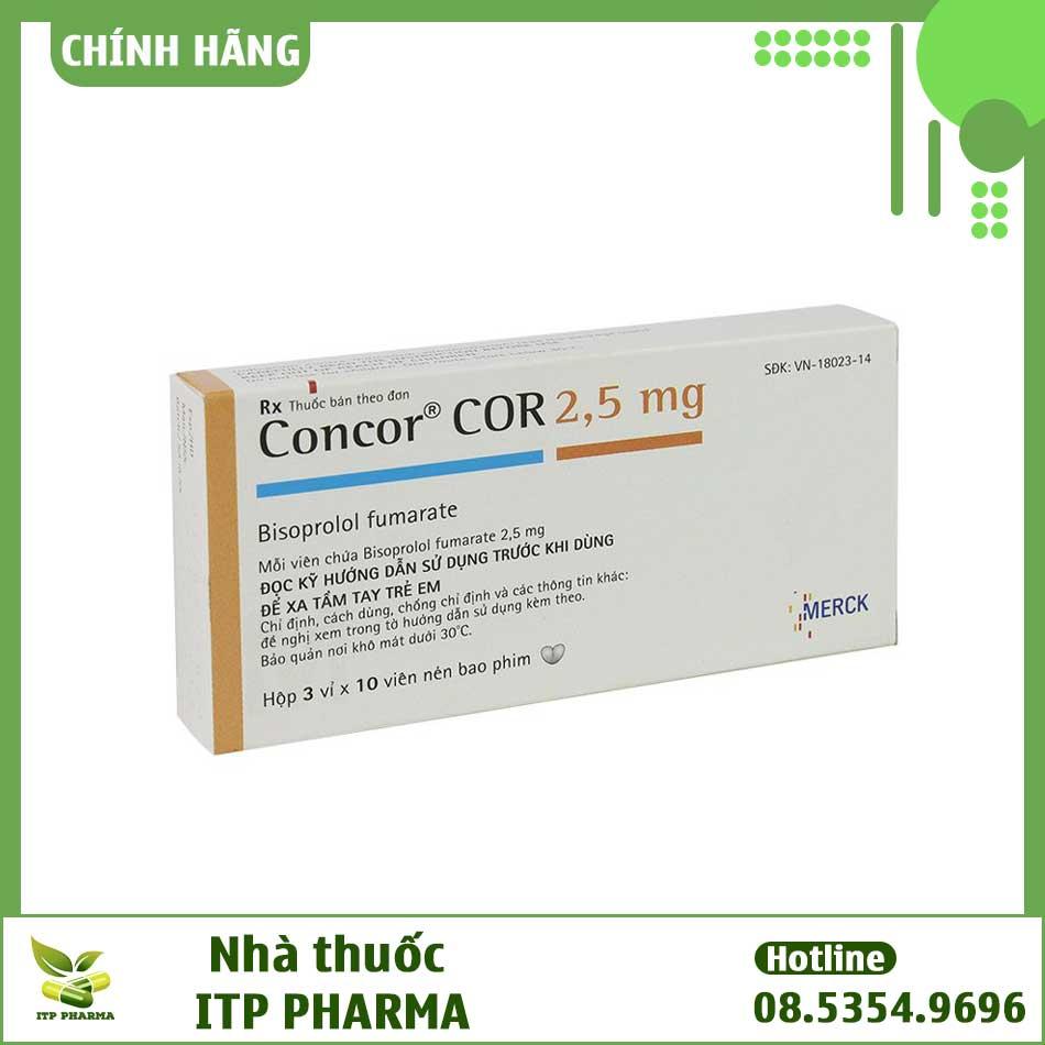Hộp thuốc Concor COR 2.5mg