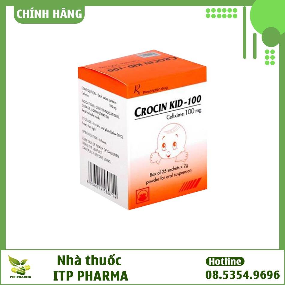 Hình ảnh hộp thuốc Crocin 100mg