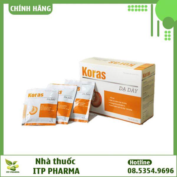 Dạng đóng gói sản phẩm dạ dày Koras