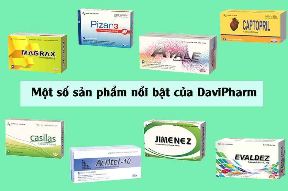 Một số sản phẩm nổi bật của DaviPharm