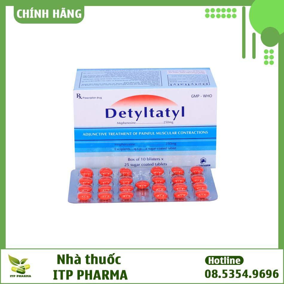 Hình ảnh vỉ thuốc Detyltatyl