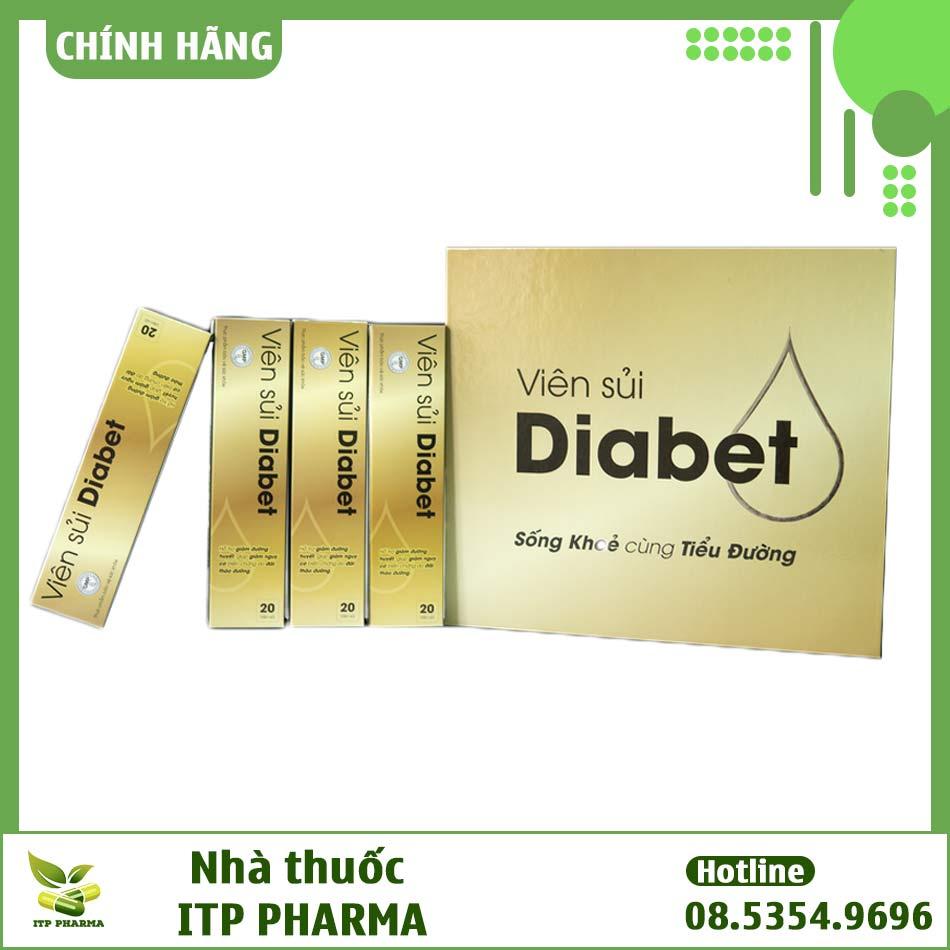 Hình ảnh hộp sản phẩm viên sủi Diabet