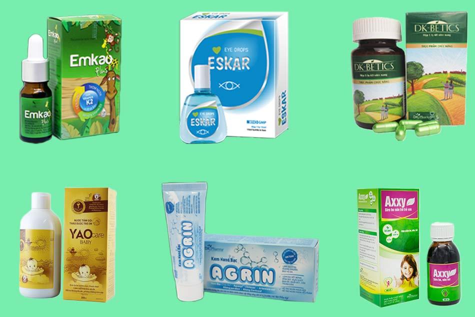 Một số sản phẩm nổi bật của DK Pharma