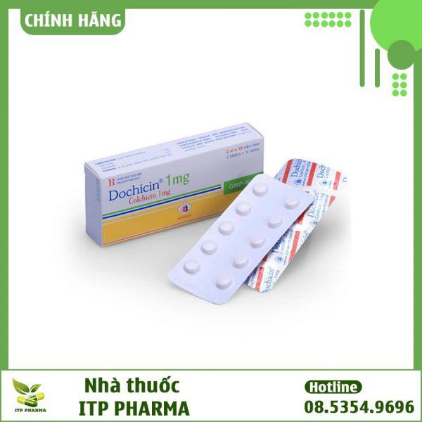 Thuốc Dochicin 1mg - Điều trị và dự phòng tái phát cơn Gout cấp