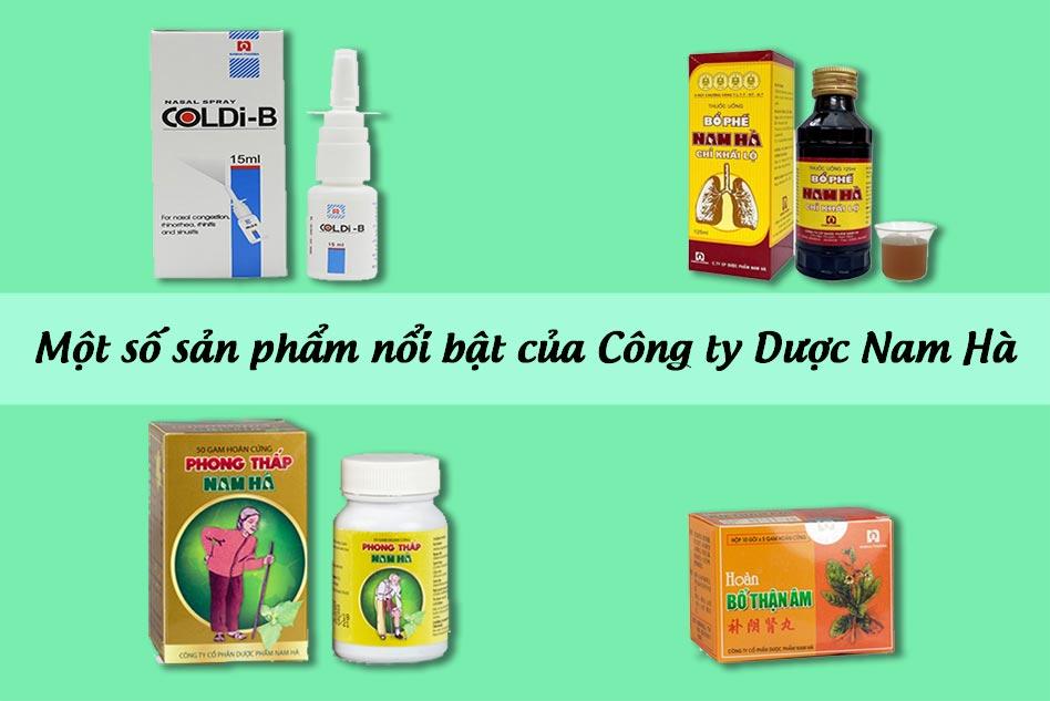 Một số sản phẩm nổi bật của Công ty Dược phẩm Nam Hà