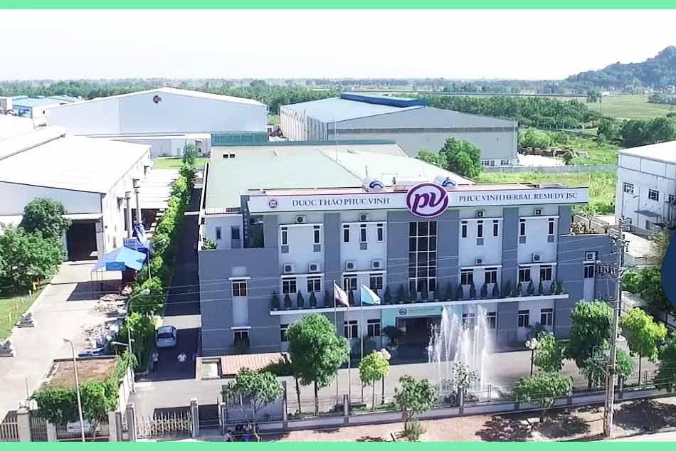 Nhà máy sản xuất của Dược Phúc Vinh
