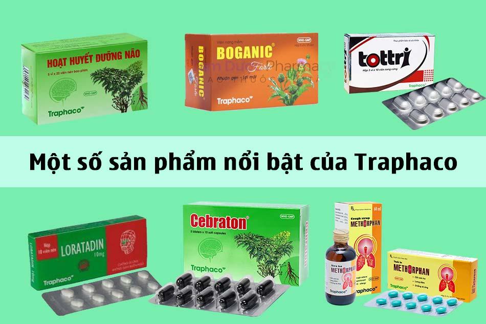 Một số sản phẩm nổi bật của Traphaco