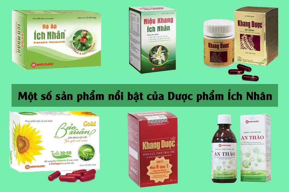 Một số sản phẩm nổi bật của Dược phẩm Ích Nhân