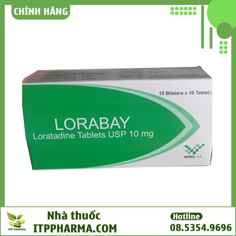 Hộp thuốc Lorabay Loratadine 10mg