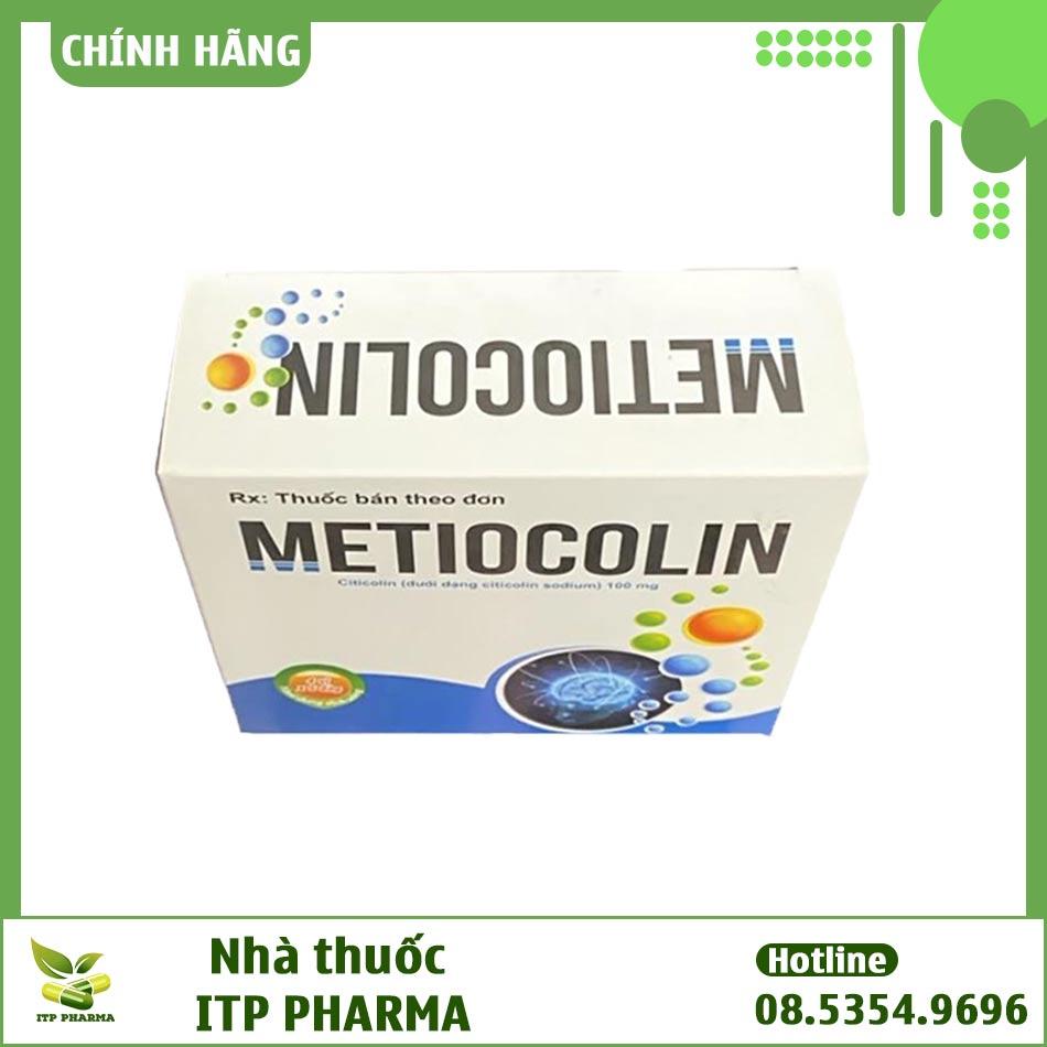 Mặt trên của hộp thuốc Metiocolin