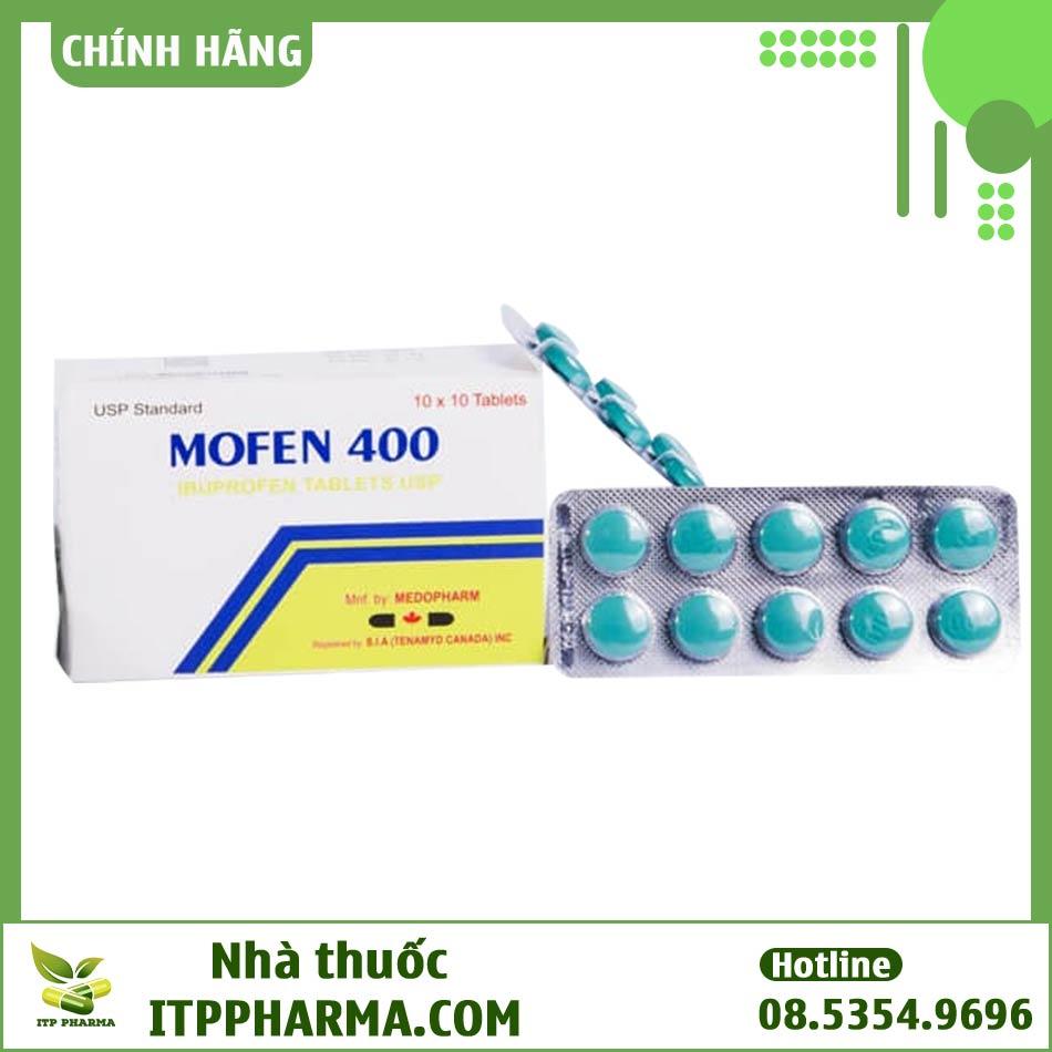Hộp thuốc và vỉ thuốc Mofen 400