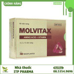 Mặt trước hộp thuốc Molvitax