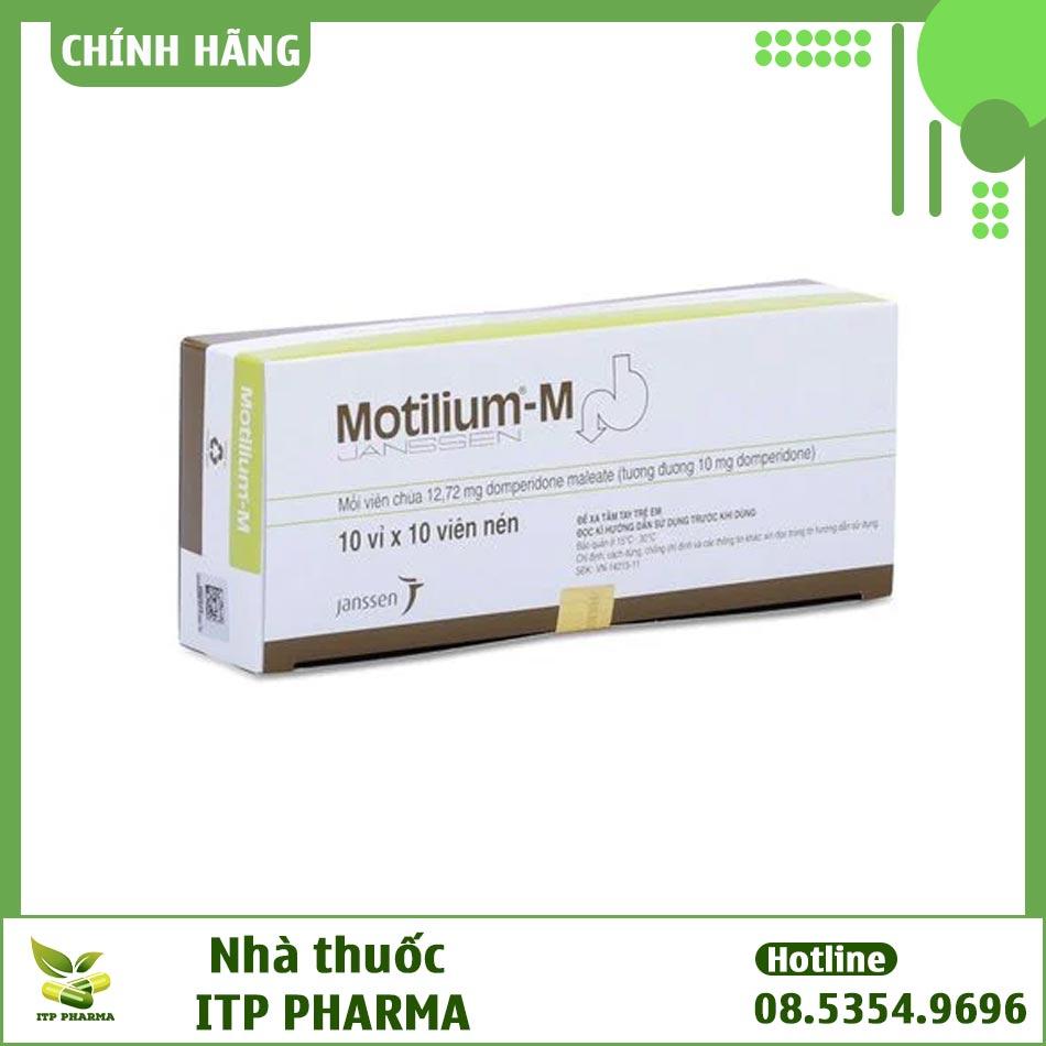 Hình ảnh hộp thuốc Motilium M 10mg