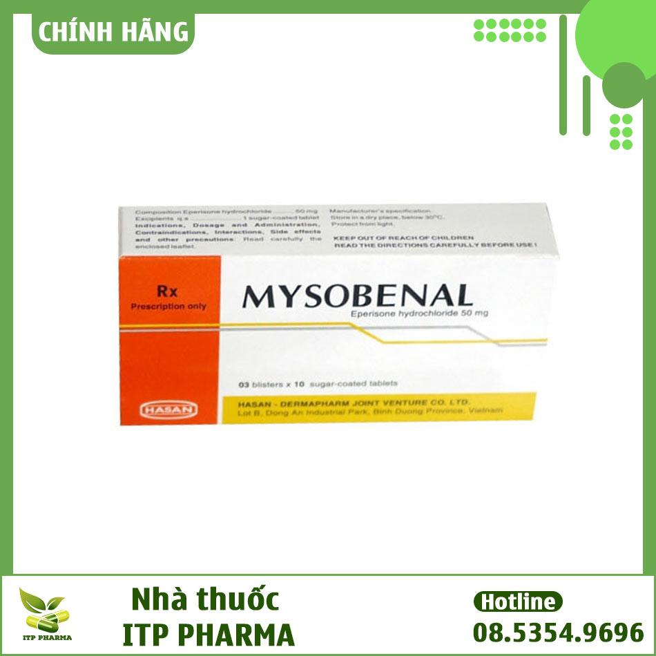 Mysobenal - Thuốc giãn cơ và cải thiện triệu chứng tăng trương lực cơ