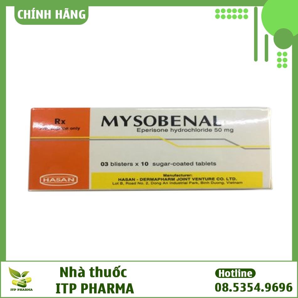 Mặt trước hộp thuốc Mysobenal