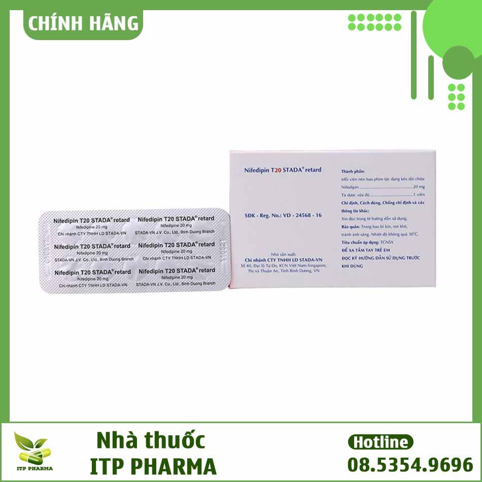 Những thông tin in trên bao bì thuốc Nifedipin 20mg