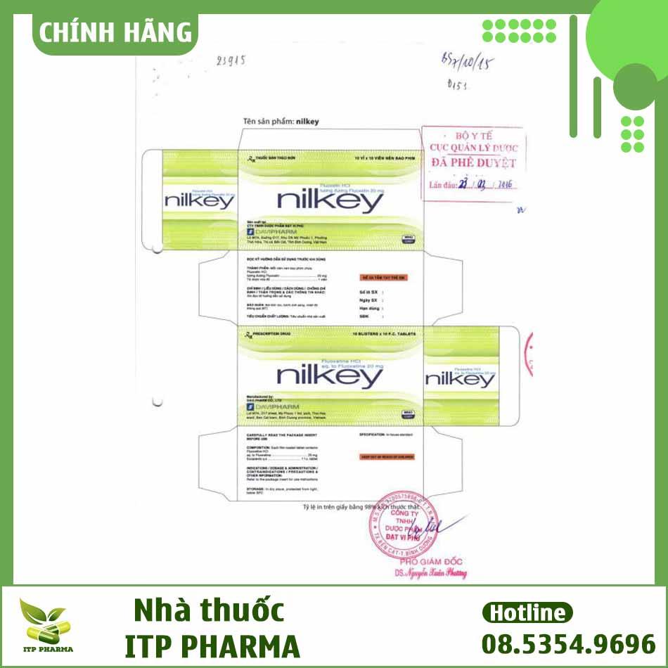 Nhãn thuốc Nilkey