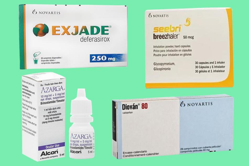 Các sản phẩm thuốc nổi bật của Novartis