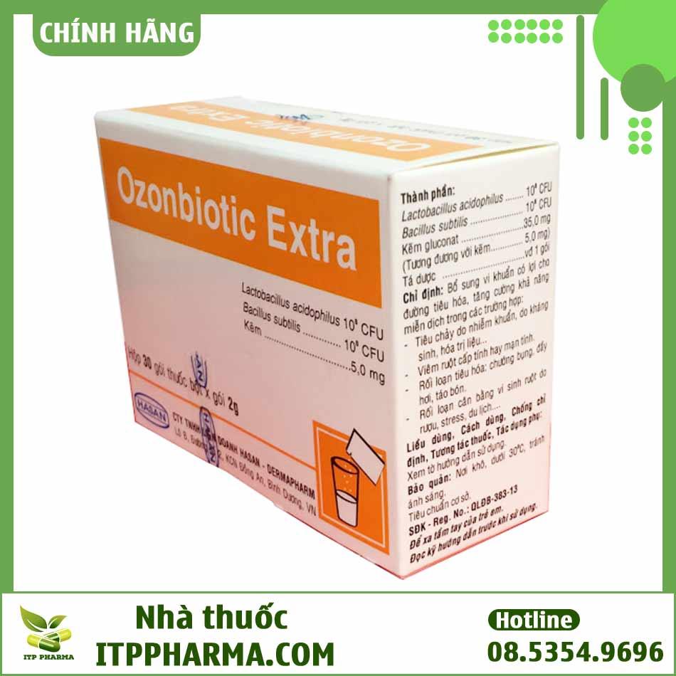 Mặt bên hộp thuốc Ozonbiotic Extra