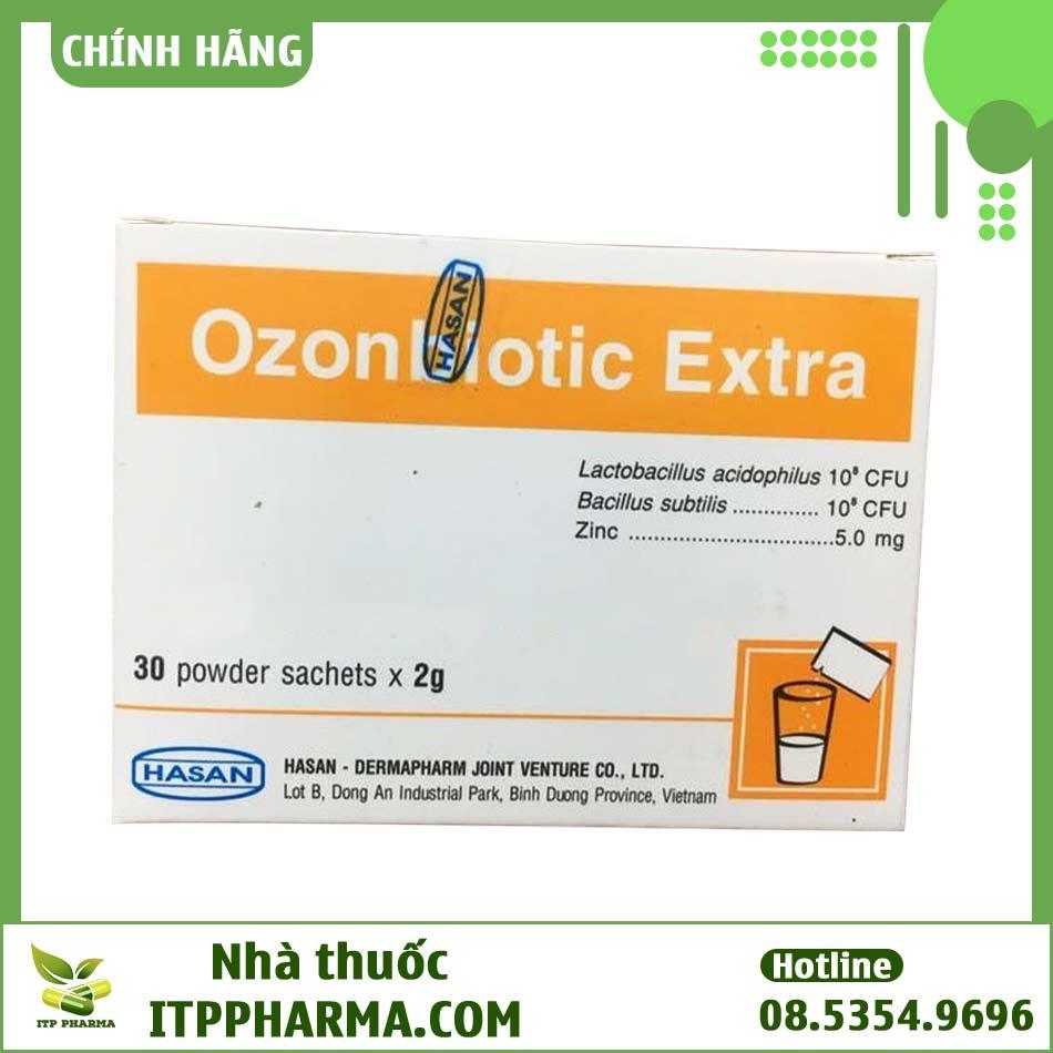 Mặt sau hộp thuốc Ozonbiotic Extra