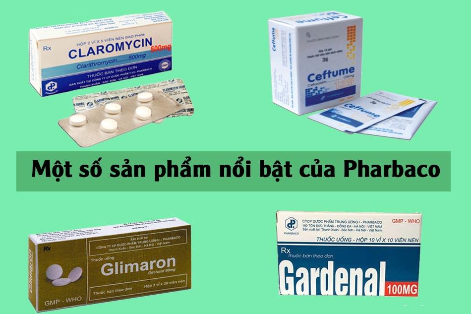 Một số thuốc nổi bật của Pharbaco
