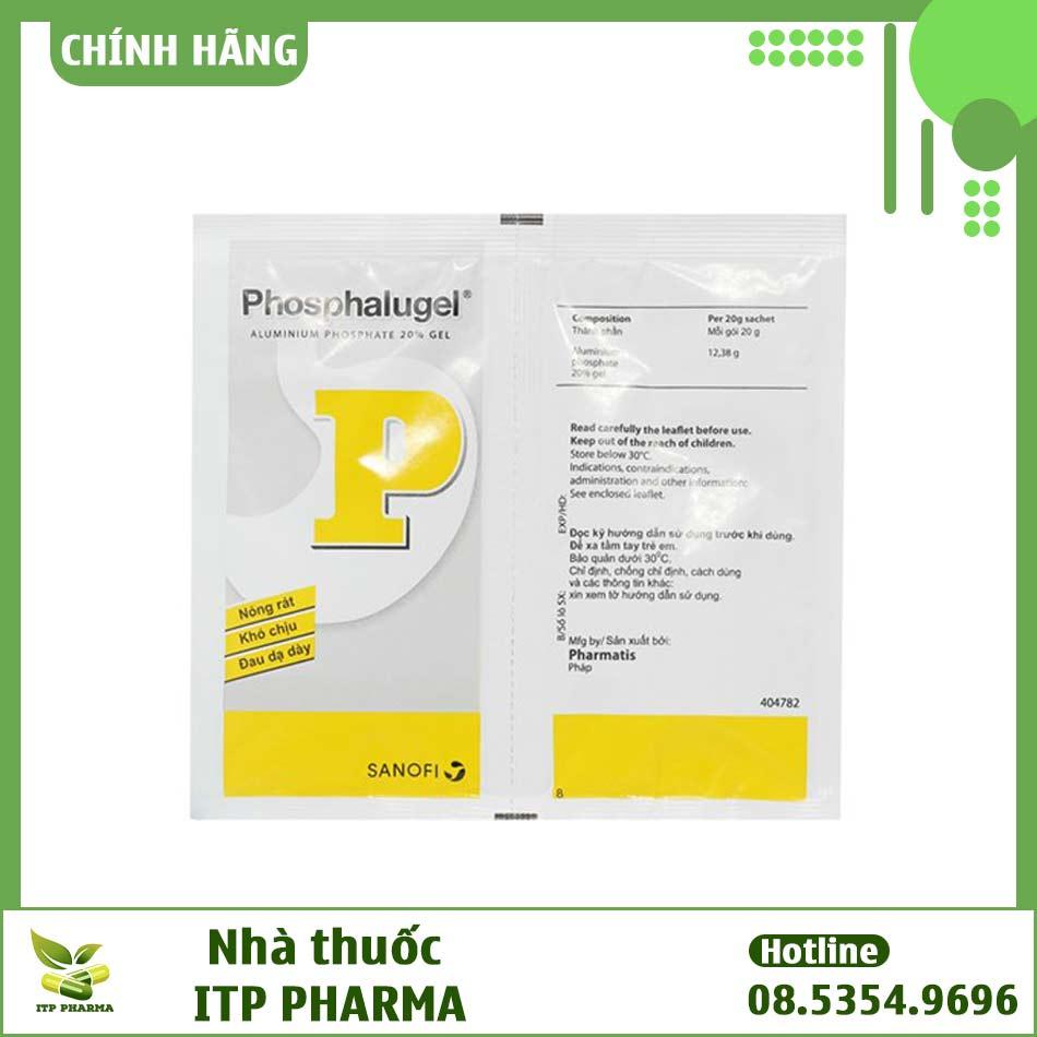 Hình ảnh túi thuốc Phosphalugel