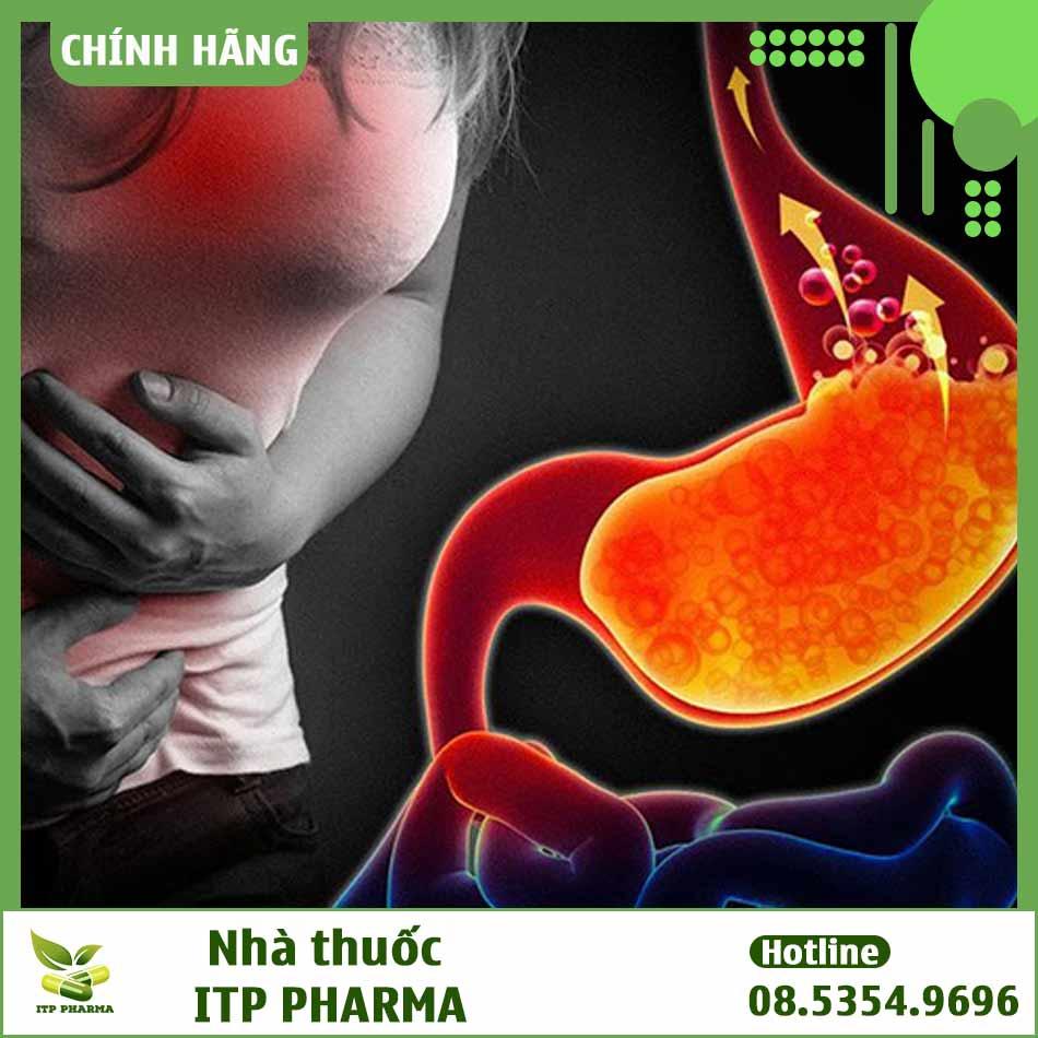Hình ảnh minh họa lượng acid trong dạ dày tăng cao
