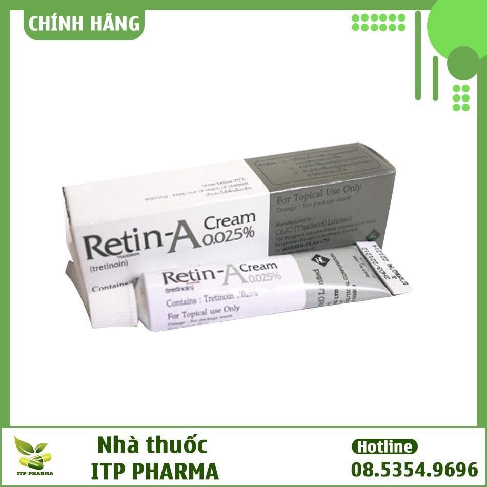 Retin A 0.025 điều trị mụn trứng cá