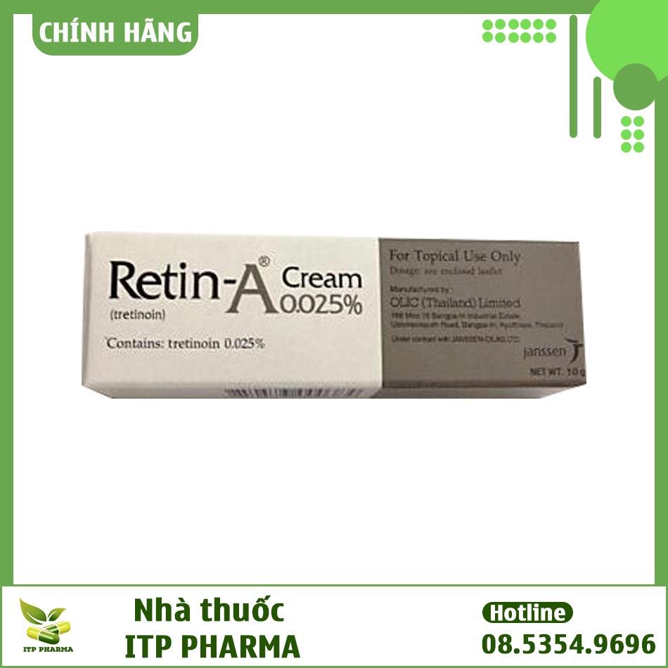 Hình ảnh hộp Retin A 0.025