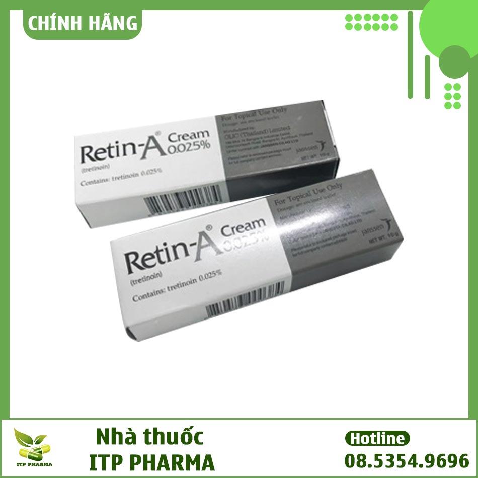 Retin A 0.025 chứa thành phần Tretinoin