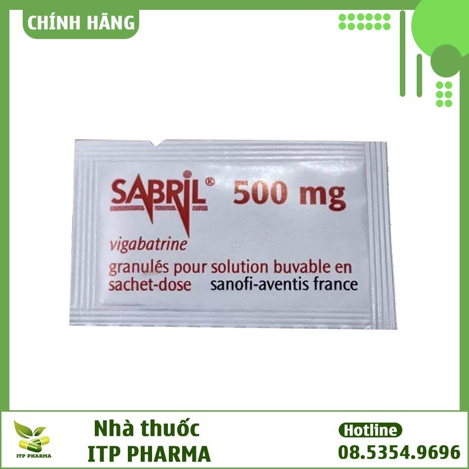 Hình ảnh gói thuốc Sabril dạng bột pha hỗn dịch