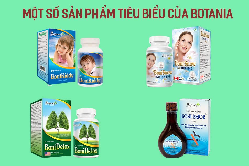 Một số sản phẩm tiêu biểu của Botania