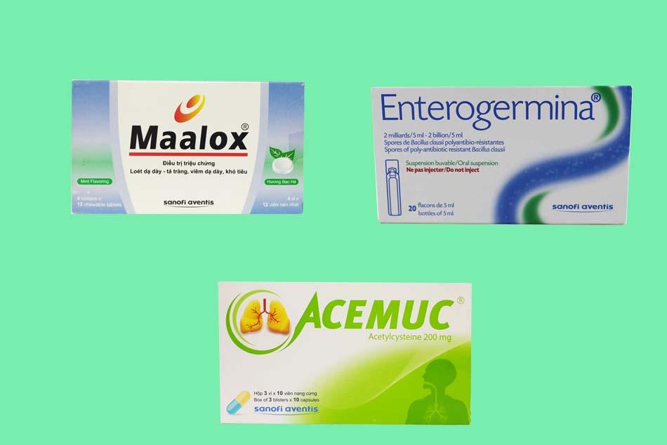 Hình ảnh một số thuốc được sản xuất bởi Sanofi