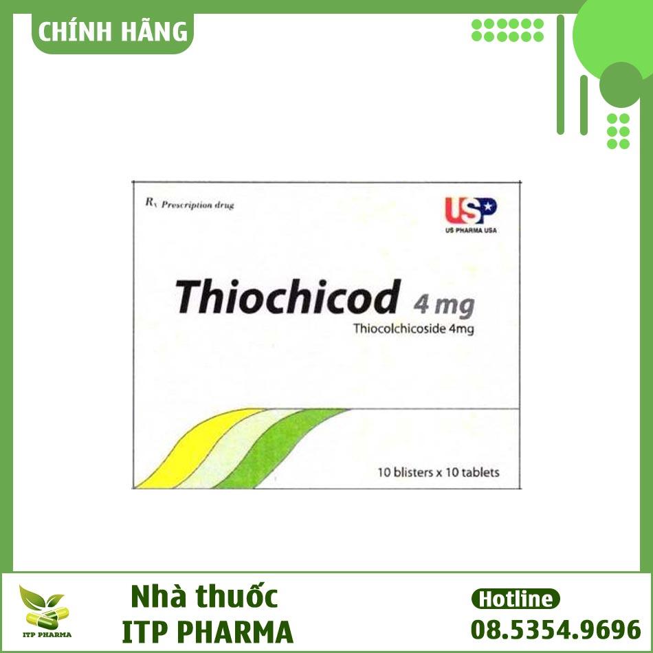 Mặt trước hộp Thiochicod 4mg