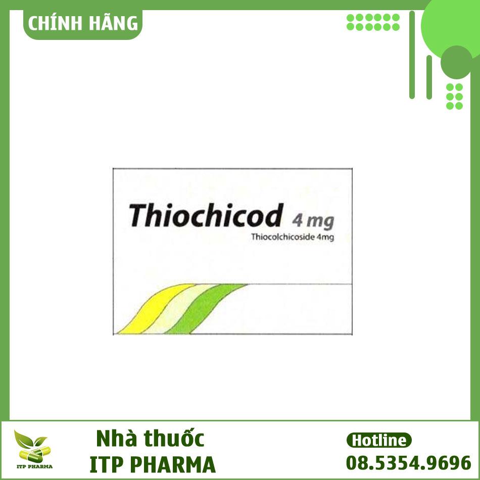 Mặt bên hộp Thiochicod 4mg