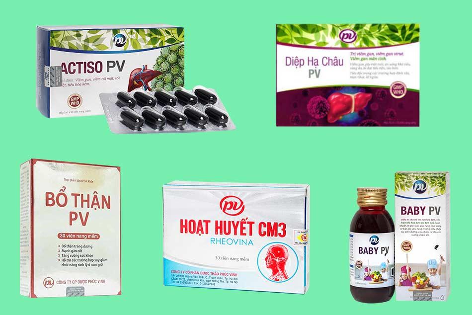 Một số thuốc đông dược do PV Pharma sản xuất