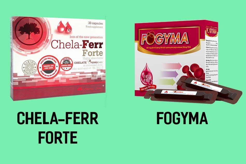 Bổ sung sắt hữu cơ Chela-Ferr Forte hoặc sắt dạng nước Fogyma cho phụ nữ mang thai