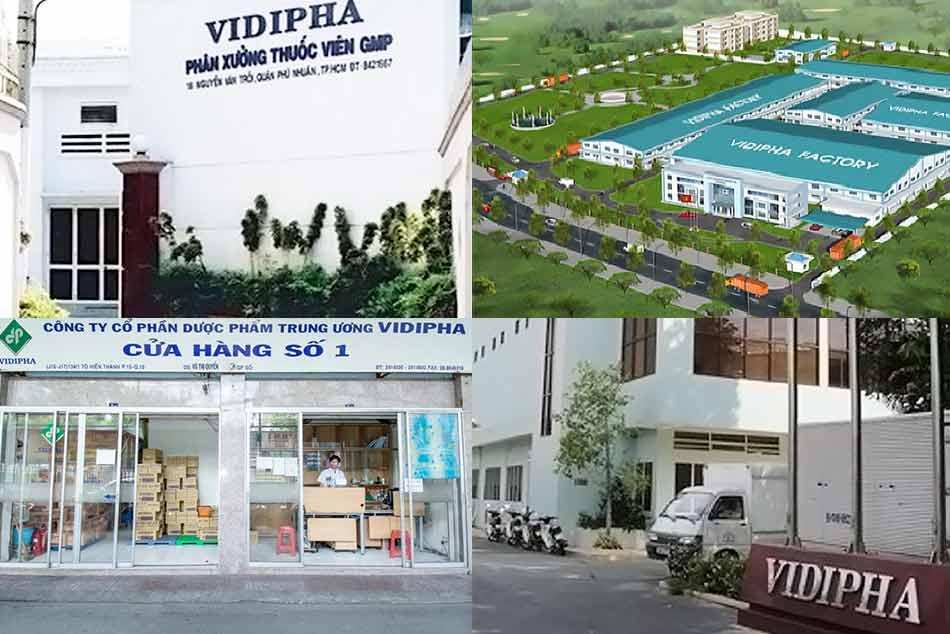 Nhà máy, phân xưởng sản xuất và nhà thuốc Vidipha