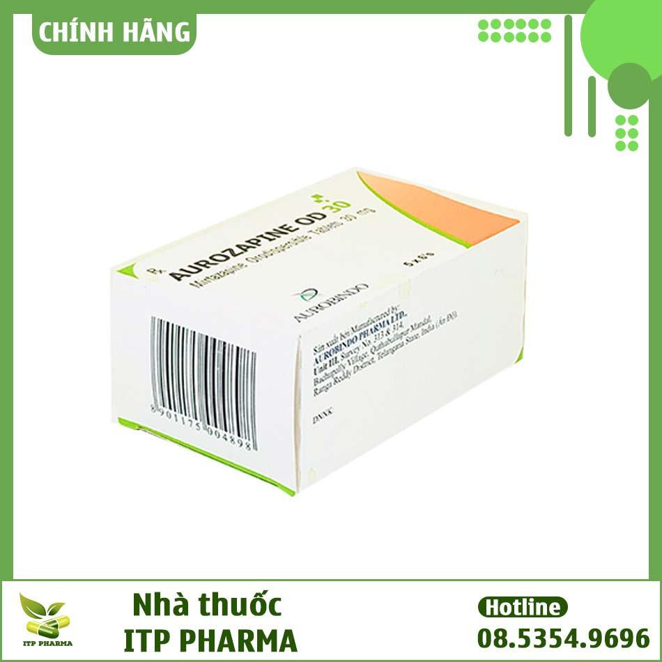 Hình ảnh hộp thuốc Aurozapine 30mg